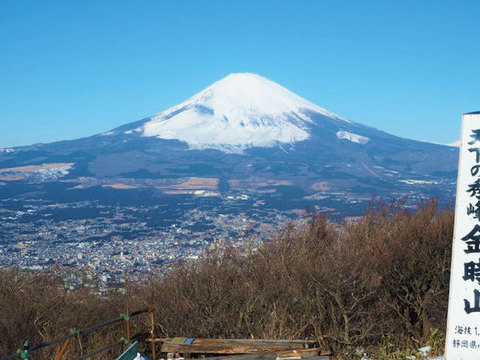 富士山の眺めが見事な金時山山頂